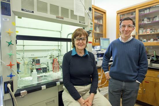 Researchers Lara Gundel and Hugo Destaillats