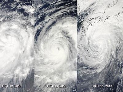 MODIS Captures 3 Days of Wipha