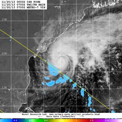 METEO/TRMM Image of Helen