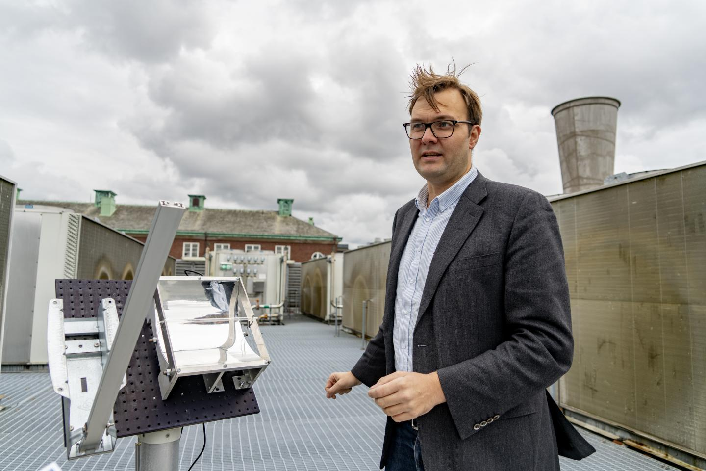 Kasper Moth-Poulsen at the Solar Thermal Collector
