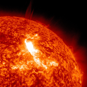 Solar flares erupt from the Sun's surface, January 2012