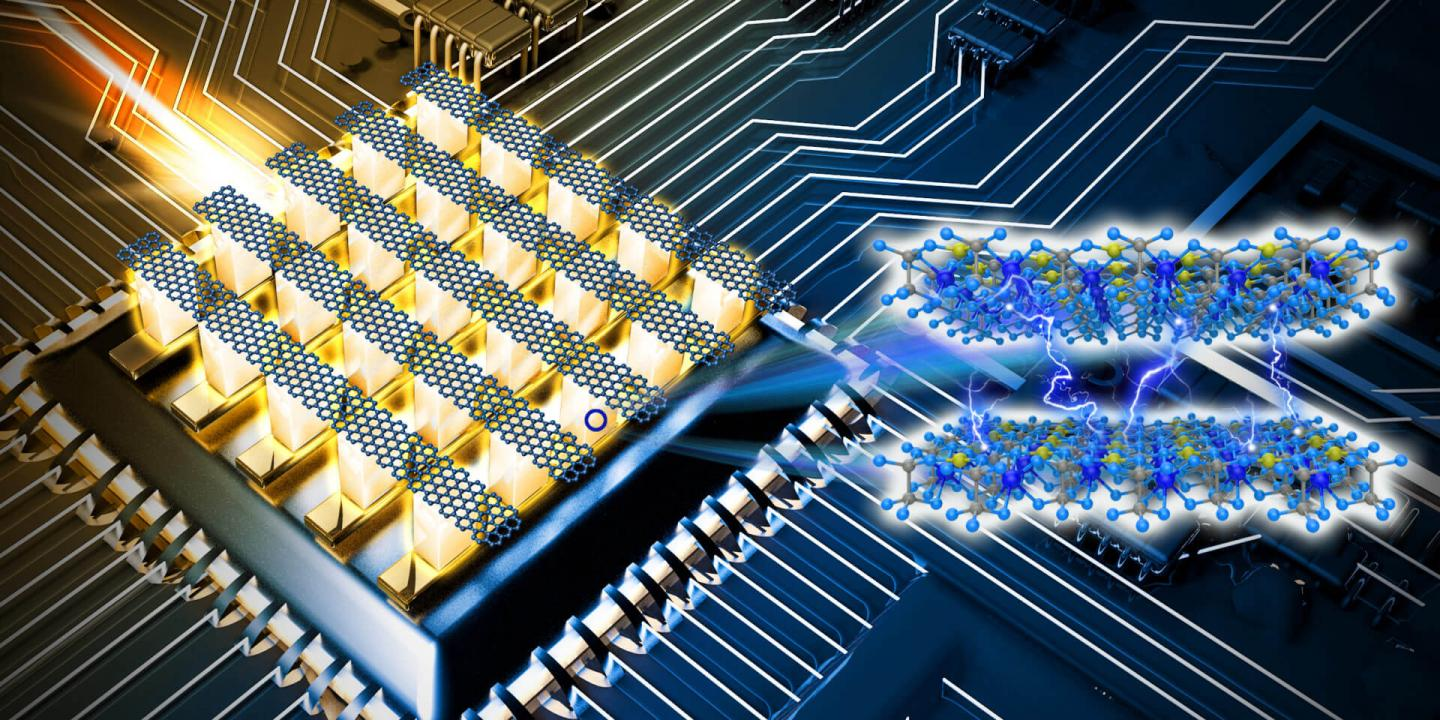 A Schematic of New Memory Device by USC Viterbi School of Engineering Researchers