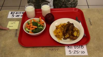 Modest Changes in Military Dining Facilities Promoted Healthier Eating -- Before Meal