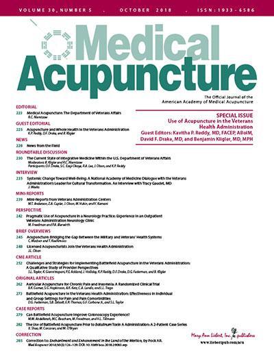 <i>Medical Acupuncture</i>