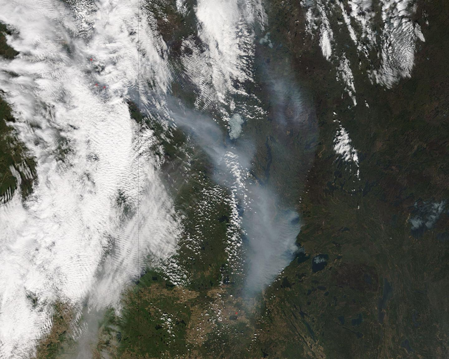 Terra Image of Ft. McMurray Fire