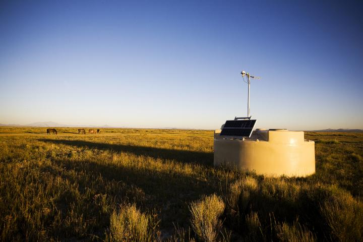 One of the 1,600 Detectors at the Pierre Auger Observatory