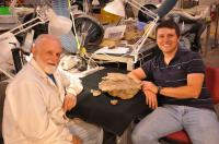Fossil Preparatory Jerry Golden and Doctoral Student Joshua Lively