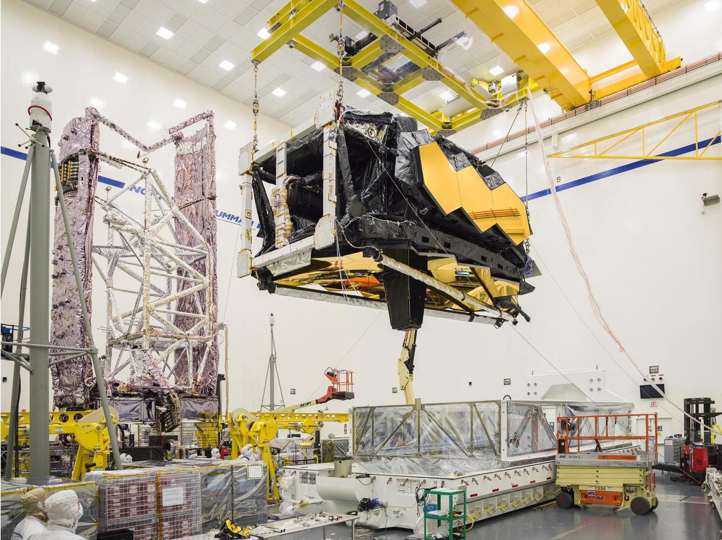JWST Removal of Optics and Science Instruments