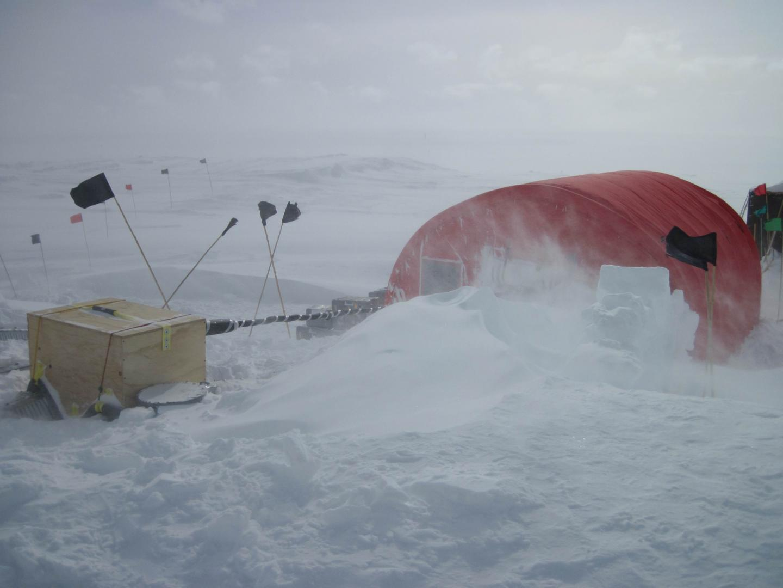 West Antarctica ice sheet divide