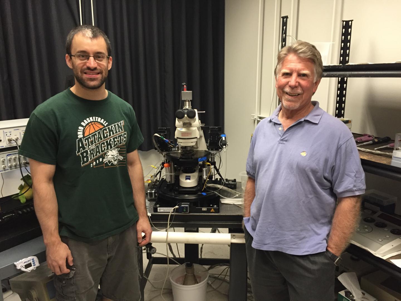 Dr. Robert Greene and Alex Sonneborn, UT Southwestern Medical Center