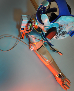 Bionic prosthetic arm with grip movement sensation and touch