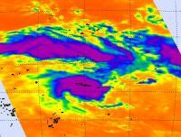 NASA Infrared Image of Tropical Cyclone Evan
