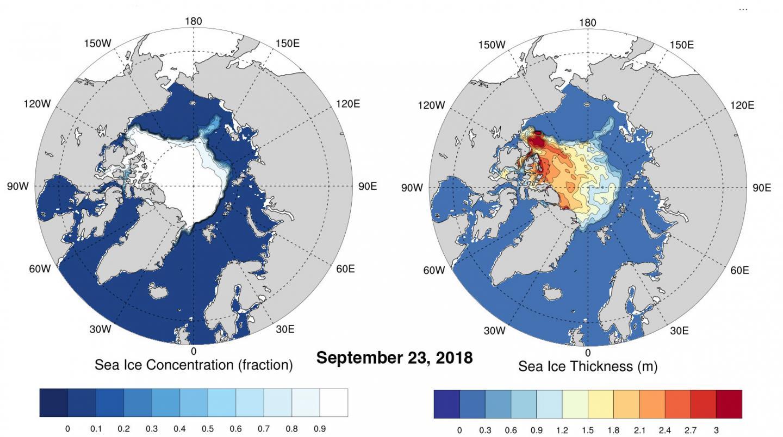 Arctic Sea Ice on Sept. 23, 2018