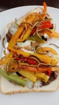 Sandwich with Mealworm Garnish