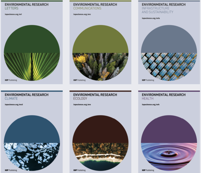 Cover pages new environmental journals