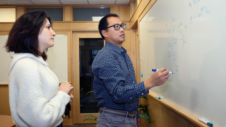 Peter Koo with graduate student Shushan Toneyan