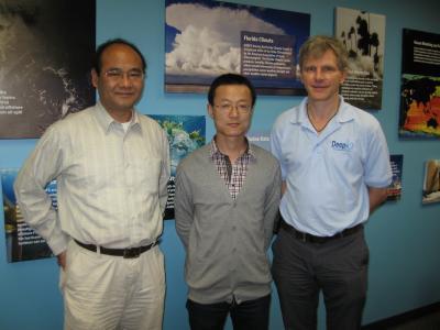 Professor Zhaohua Wu, Fei Ji and Eric Chassignet, Florida State University