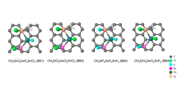 Representative hybrid materials composed of polymers and graphene
