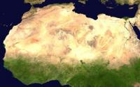 Satellite Image Showing the Sahara Desert
