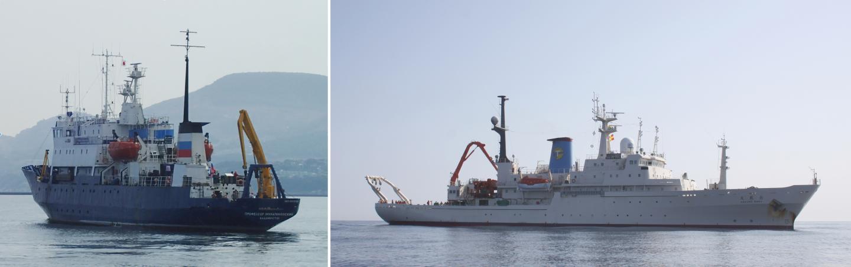 The Research Vessels Professor Multanovskiy and Hakuho Maru