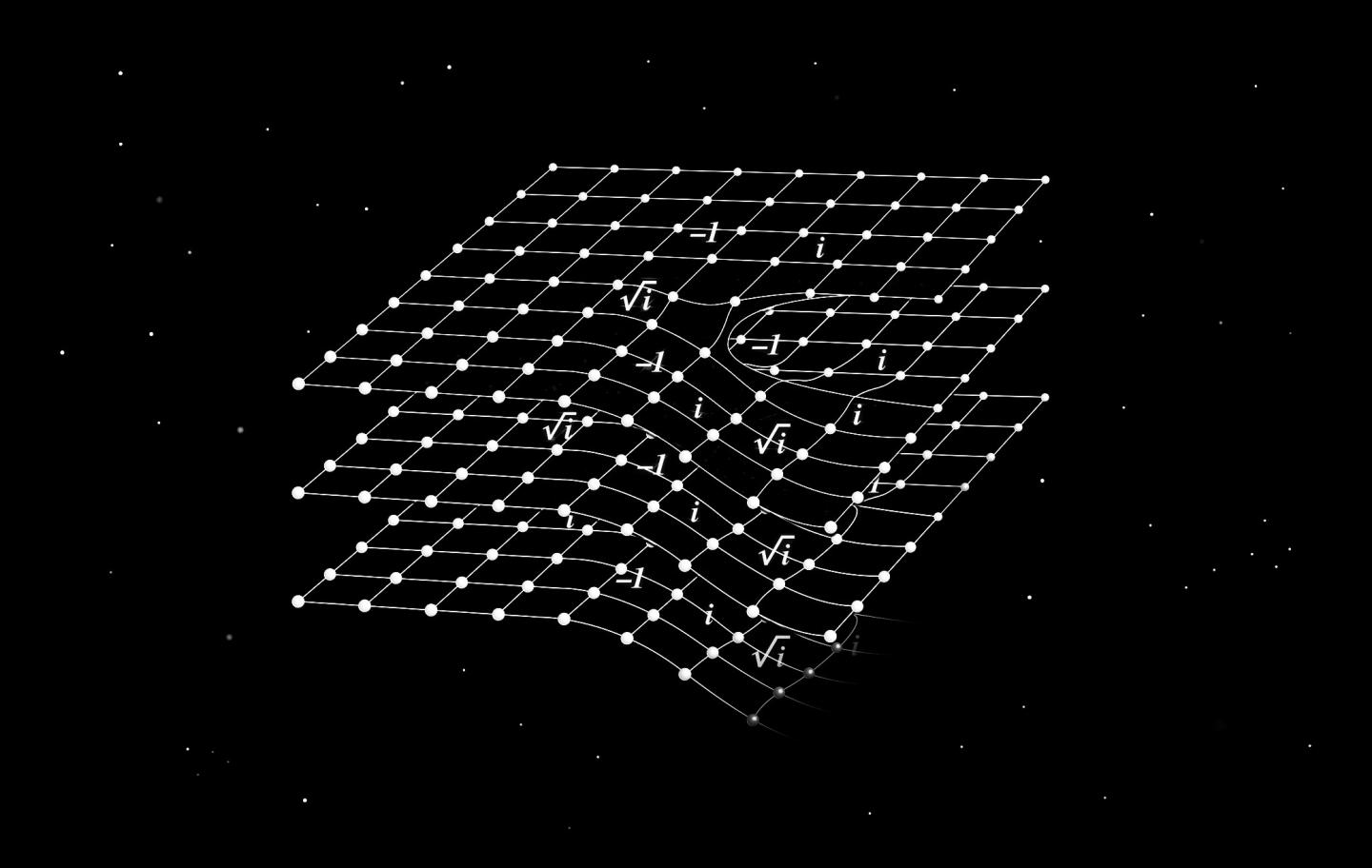 Space-Time Twist in a Crystal