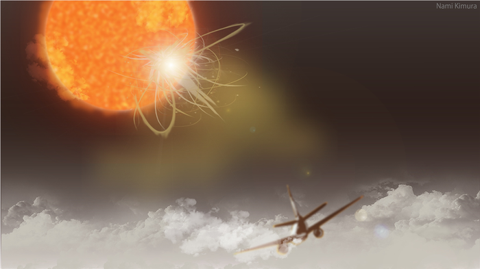 How much of a risk do solar flares pose to airline passengers and staff?
