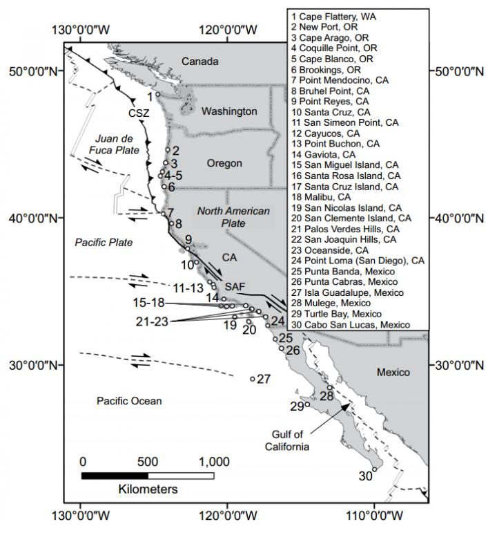 Locations Mentioned in the Text