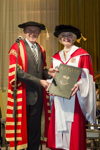 Chancellor Alan Finkel with the Honourable Quentin Bryce AD CVO