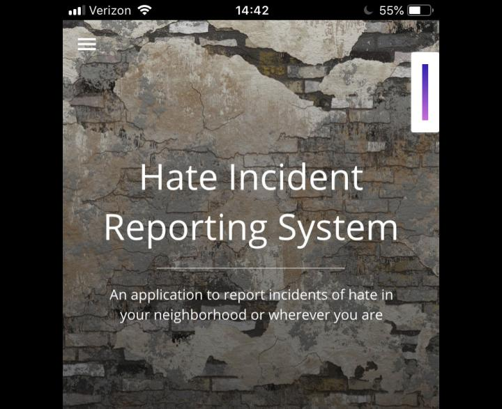 Hate Incident Reporting System