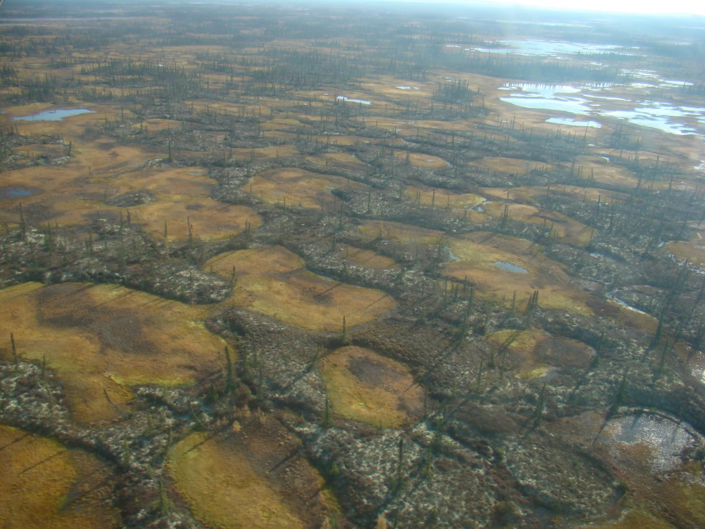 Aerial Image of Permafrost Thaw