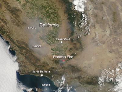 Rancho Fire in California