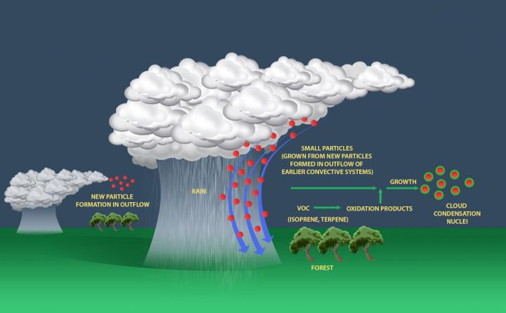 Atmospheric Processes Illustration