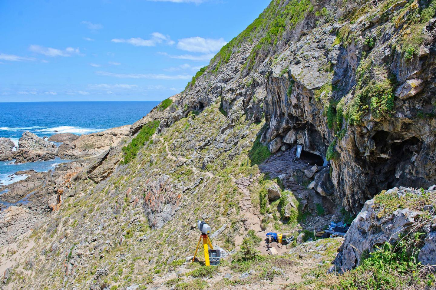 Outside Blombos Cave
