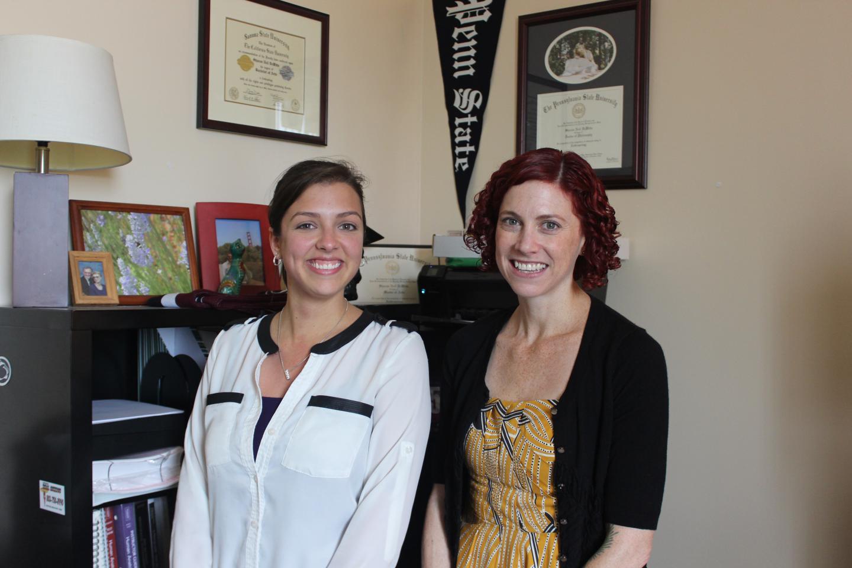 Sharon DeWitte (right) and Samantha Yaussy, University of South Carolina