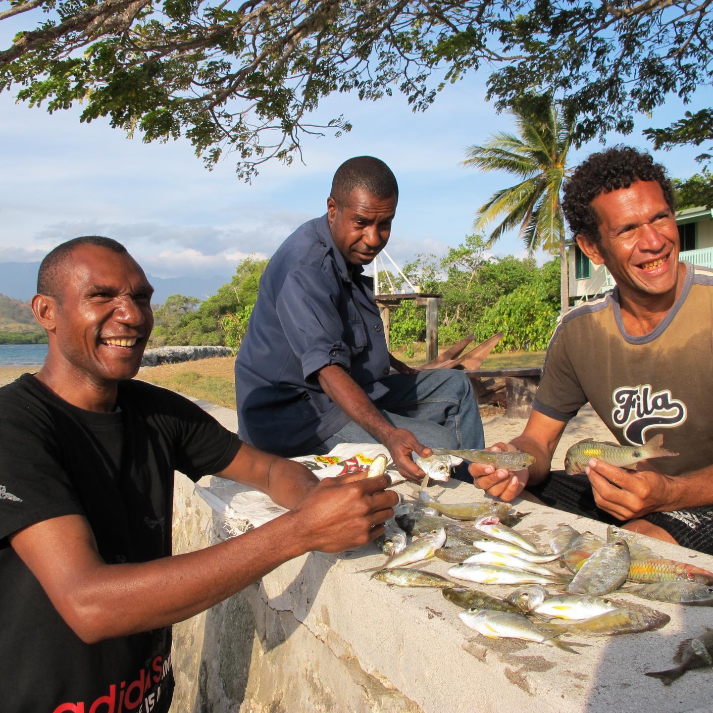 Fishers in Papua New Guinea