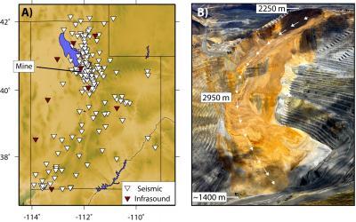 Seismic and Infrasound Image Plus Image of Landslide