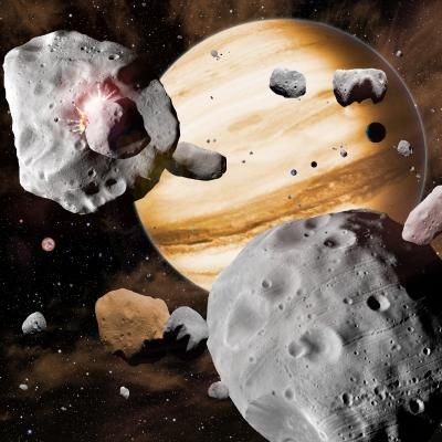 Artist's Conception of Asteroid Belt