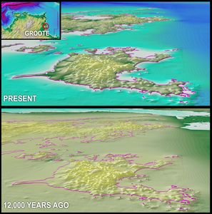 Northern Territory topography at 12,000 years ago