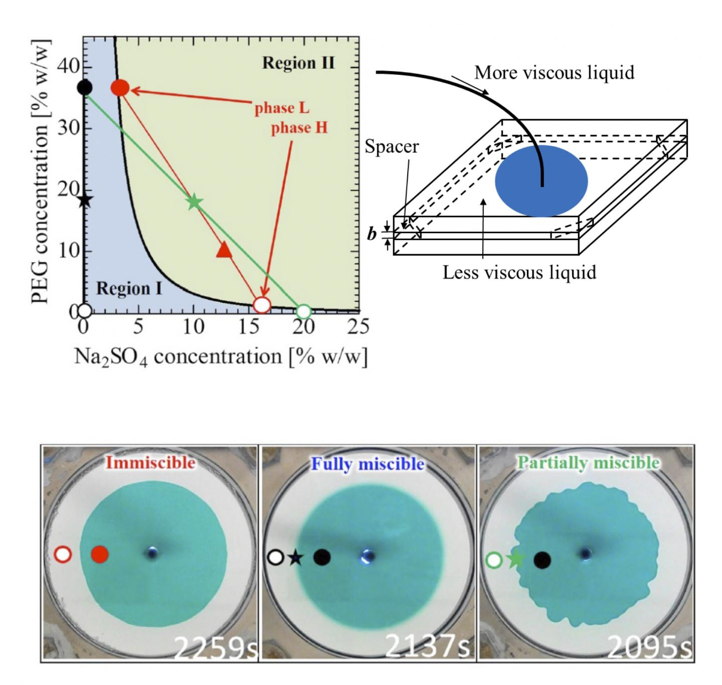Figure. Solution Systems and Displacement Experiments.