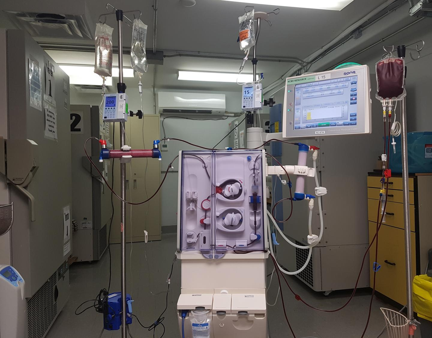Modified dialysis device