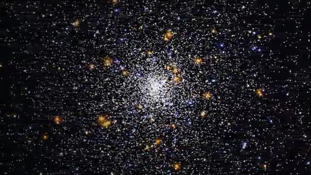 Hubble's Celestial Snow Globe Greeting