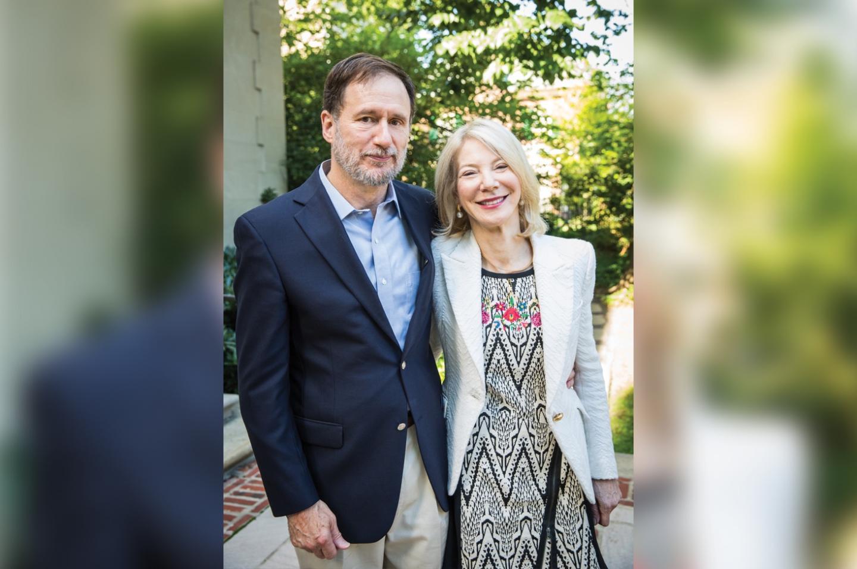 University of Pennsylvania President Amy Gutmann and her husband Michael Doyle