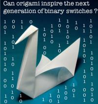 Origami-Inspired Binary Switches