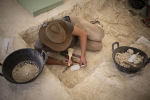 Juha Saarinen working at the excavations in Orce, Andalucía.