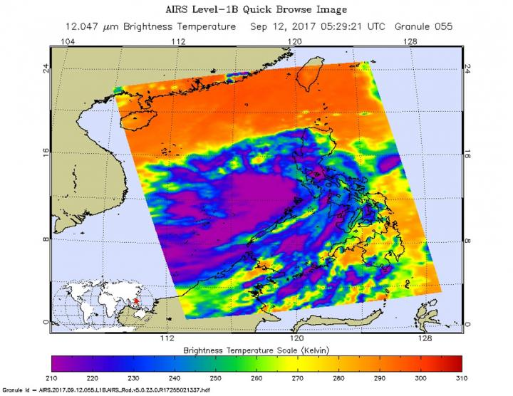 AIRS image of 21W