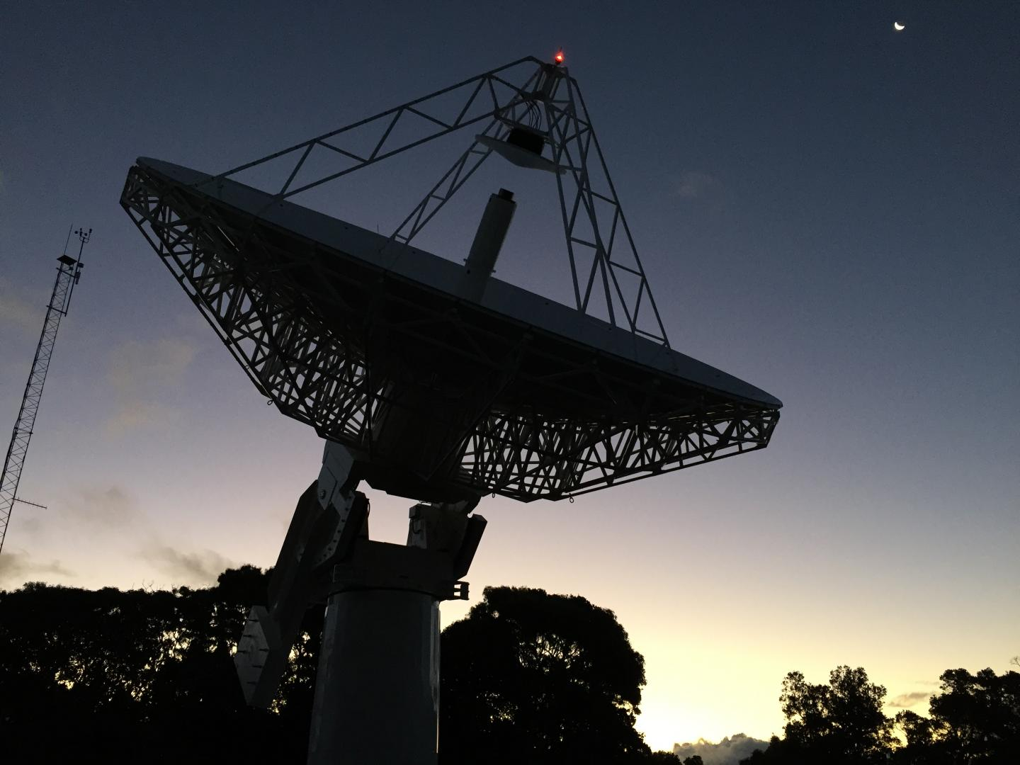 The New 12-Meter (39-Foot) Antenna at the Koke'e Park Geophysical Observatory