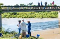 USand Cuban scientists collects river water samples