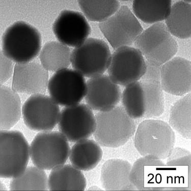 Prototype nanoparticle cores for thermometry