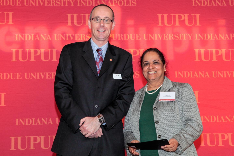 Simon Rhodes. PhD and Pratibha Varma-Nelson, PhD of IUPUI's School of Science
