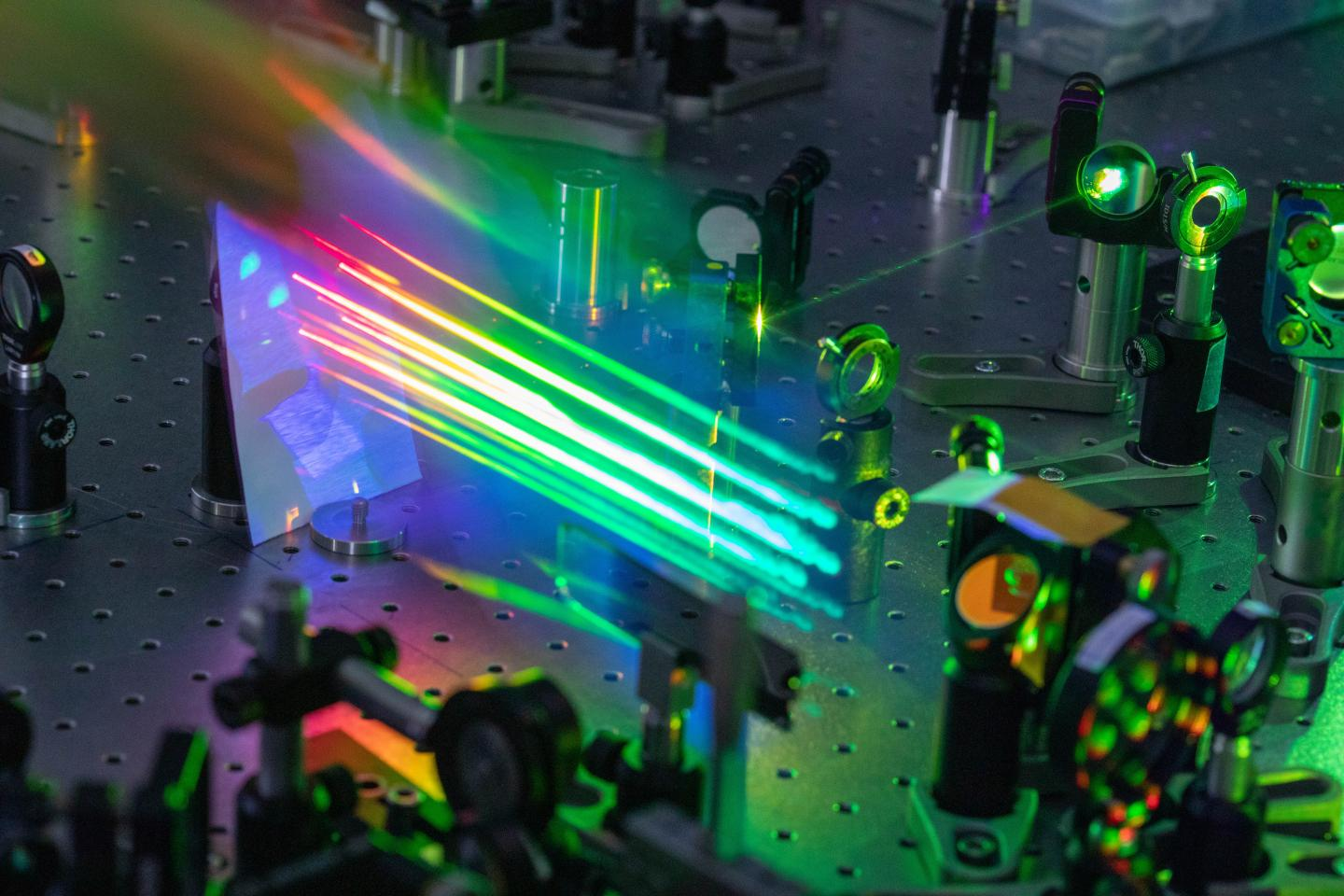 Ultra-short pulse lasers used at the Physics Department of the Politecnico di Milano to study photovoltaic cells
